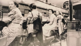 Standard téléphonique au siège central (Paris, 1940). © Archives historiques Société Générale